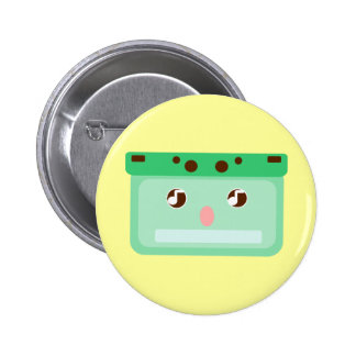 music cassette pinback button