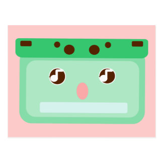 music cassette postcard