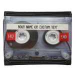 Music Cassette Tape Personalized Leather Leather Tri-fold Wallet