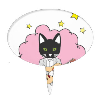 Music Cat Cake Topper