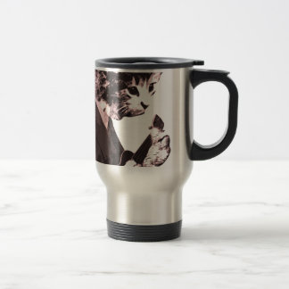Music cat travel mug