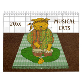 Music Cats Calendar