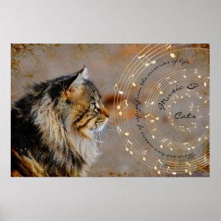 Music & Cats Fine Art Print