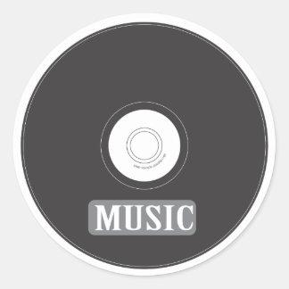 Music CD Classic Round Sticker
