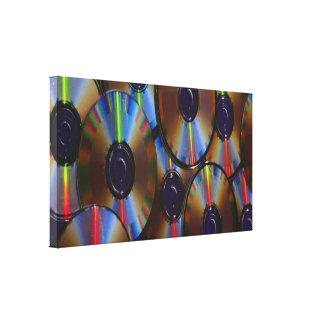Music CD's Canvas Print