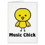 Music Chick Greeting Card