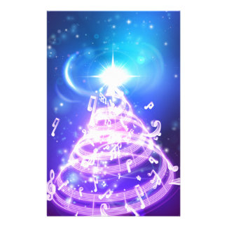 Music Christmas Tree Stationery