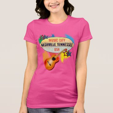 USA Themed MUSIC CITY _NASHVILLE T-shirt