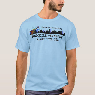 Music City, Nashville, Tn -a T-shirt at Zazzle