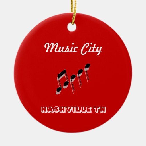 Music City Notes Christmas Ornament