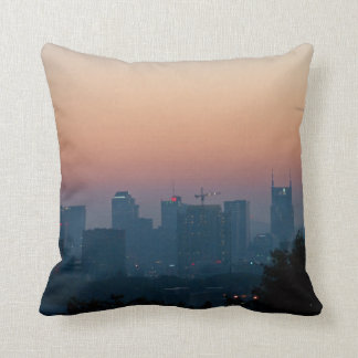 Music City Sunrise Throw Pillow