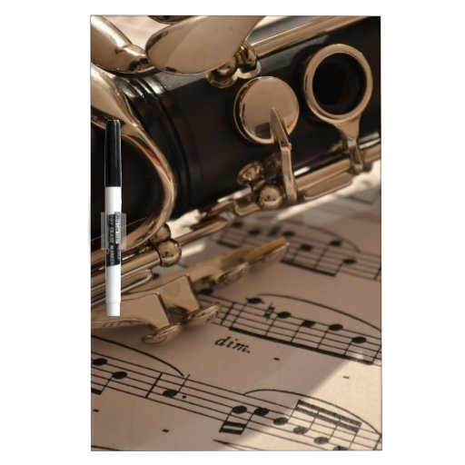 Music Clarinets Musical Notes Destiny Dance Fun Dry-Erase Whiteboards