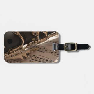 Music Clarinets Musical Notes Destiny Dance Fun Luggage Tag