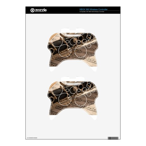 Music Clarinets Musical Notes Destiny Dance Fun Xbox 360 Controller Skin