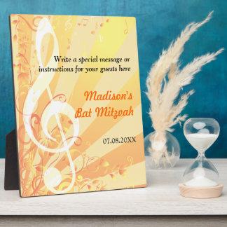 Music Clef Bat Mitzvah Plaque