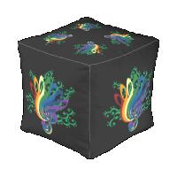 Music Clef Bouquet Cube Pouf