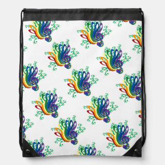 Music Clef Bouquet Drawstring Backpack