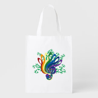 Music Clef Bouquet Grocery Bag