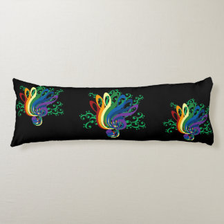 Music Clef Bouquet on Black Body Pillow