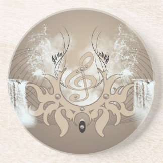 Music, clef coaster