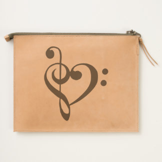 Music Clef Design Heart Travel Pouch