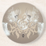 Music, clef drink coasters