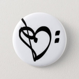 Music Clef Heart Button