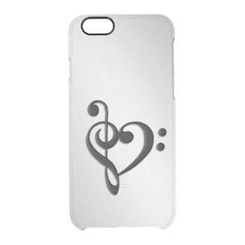 Music Clef Heart Clear iPhone 6/6S Case