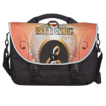Music, clef laptop bags