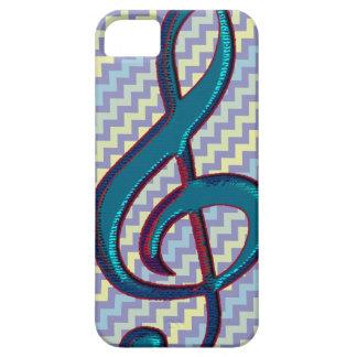 music clef note symbol on chevron iPhone 5 case