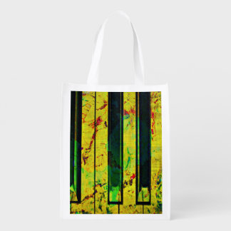 Music Clef Piano Grocery Bag