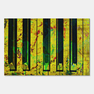 Music Clef Piano Yard Sign