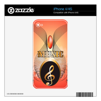 Music, clef iPhone 4S decal