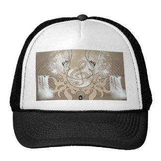 Music, clef trucker hats