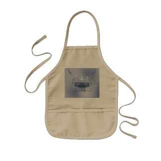 Music, clef wiht keynotes and liight effects kids' apron