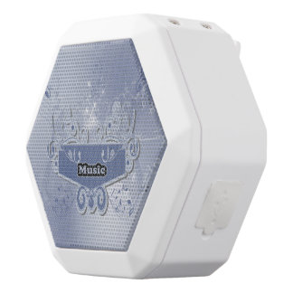 Music, clef wiht keynotes and liight effects white boombot rex bluetooth speaker