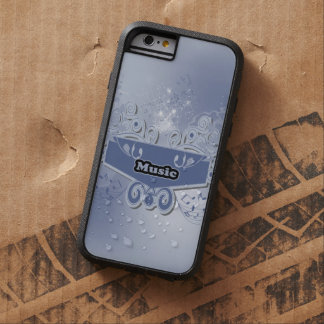 Music, clef wiht keynotes and liight effects tough xtreme iPhone 6 case
