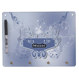 Music, clef wiht keynotes and liight effects dry erase boards