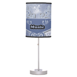 Music, clef wiht keynotes and liight effects desk lamps