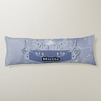 Music, clef wiht keynotes and liight effects body pillow
