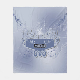 Music, clef wiht keynotes and liight effects fleece blanket