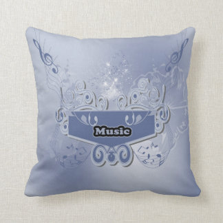 Music, clef wiht keynotes and liight effects throw pillows