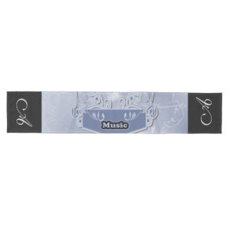 Music, clef wiht keynotes and liight effects medium table runner
