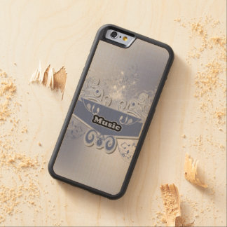 Music, clef wiht keynotes and liight effects carved® maple iPhone 6 bumper