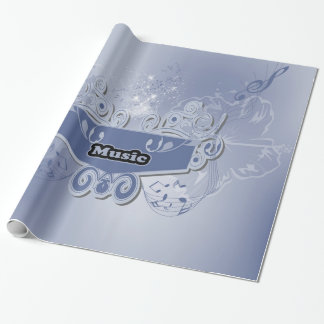 Music, clef wiht keynotes and liight effects wrapping paper