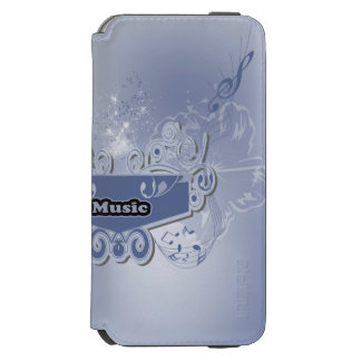 Music, clef wiht keynotes and liight effects incipio watson™ iPhone 6 wallet case