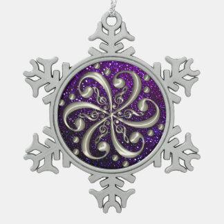 Music Clefs Purple Glitter Christmas Ornament