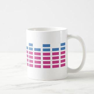 music club sound equalizer coffee mug
