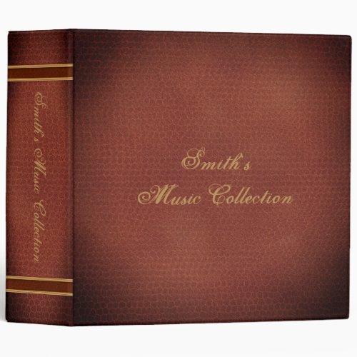 Music Collection CD Holder Library Storage Binder