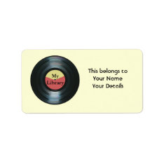 Music Collection Vinyl Record Name Gift Tag Labels at Zazzle